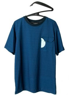 Blue T-Shirt With Pocket . Andrez . fashion designer . scar-id store
