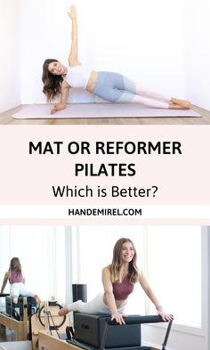 Mat or Reformer Pilates - Which is better? Mat or Reformer Pilates - Which is Best? Pilates Matwork, Pilates At Home, Pilates Workout Routine, Pilates Reformer Exercises, Toning Exercises, Pilates Fitness, Pilates Studio, Pilates Instructor, Pilates Classes