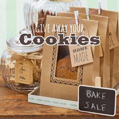 Stilvolle Kekstüten mit Zubehör von talking tables zum Verschenken der selbstgemachten Kekse.