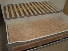 "hack Hemnes daybed to fit second mattress inside ""drawers"", and glue the drawer fronts back on."