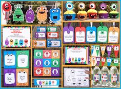 A Monster theme party for my little monsters! Kids Printable Party Invitations and Birthday Party Decorations