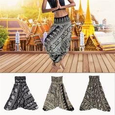 Ladies Comfy Yoga Beach Baggy Boho Gypsy Hippie Women Harem Pants Trousers Indian Summer Loose Yoga Pants One Size Boho Hippie, Boho Gypsy, Golf Pants, Harem Pants, Trousers, Gypsy Women, Baggy, Leggings Sale, Indian Summer