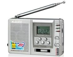 Kaide 9-Band Radio (Silver) + Free Shipping Worldwide by Kaide. $32.59. Frenquency Range: FM: 70.0-108.0 MHz MW: 515-1605 KHz; SW: 5.95-17.90 MHz; (49m 5.95-6.20 MHz; 41m 7.10-7.30 MHz; 31m 9.50-9.90 MHz; 25m 11.65-12.05MHz; 22m 13.60-13.80MHz; 19m 15.10-15.60MHz; 16m 17.50-17.90MHz)  Sensitibity FM: >20uV MW: >6mV/m SW: >30uV  SNR >6db  Speaker ?57mm/4?/0.25W  Audio Port 3.5mm port 32?  Voltage 3V  Battery 2 x AA batteries (not included)  External Power 3V 300A  Max. Consumptio...
