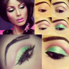 Barbie inspired makeup pictorial