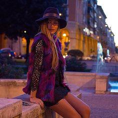 Giulia Gaudino wears Bazaretto for Tee Trend #bazaretto #teetrend #fur #colour #eco #blogger