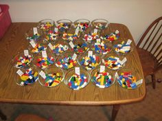 love it! Legos on each table to give everyone something to do!