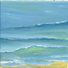 La Mer Seascape Painting My summer pallet add red (hibicus) Dark green (fern) and I'm good to go Abstract Landscape, Abstract Art, Wine And Canvas, Art Textile, Seascape Paintings, Ocean Art, Art Plastique, Beach Art, Painting Inspiration