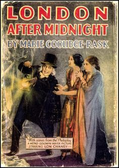 A movie tie-in for the lost Tod Browning/Lon Chaney film London After Midnight (1927).