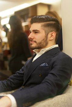 """Just like your hairstyle affects your image, the same is true with a type of beard. Unless of course youRead More Interesting Beard Styles For Men"""" Beard Styles For Men, Hair And Beard Styles, Short Hair Styles, Undercut Men, Undercut Hairstyles, Formal Hairstyles Men, Hipster Hairstyles Men, Classic Hairstyles, Fashion Hairstyles"""