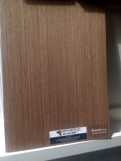 "Portrait ""Walnut, Danzer Linea"" Real Walnut reengineered wood veneer. One of many natural and engineered wood veneers for architectural plywood manufactured at Monarch Custom Plywood Inc. for your architectural plywood requirements. T. 905.669.6800."