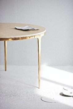 Barbera Design: BRONZE table via @sfgirlbybay / victoria smith