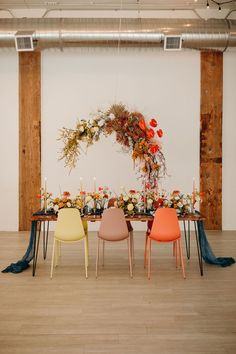 Life imitating art in today's modern wedding inspiration with a muted springtime color palette and the coolest wooden ceremony backdrop design! Reception Design, Wedding Reception Decorations, Wedding Backdrops, Wedding Aisles, Wedding Ceremonies, Wedding Programs, Wedding Table, Spring Wedding Invitations, Wedding Invitation Design