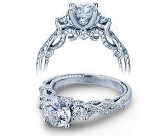 0.70ct. natural diamond pear cut verragio 3 stone insignia infinity pave…