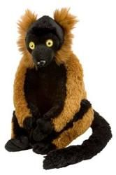 """Cuddlekins Red Ruffed Lemur by Wild Republic - 10946  Cuddlekins are one of the most popular stuffed animals made! Each cute and cuddly Cuddlkins is made with quality material and extremely soft. This plush wildlife toy is great for all ages. The perfect gift for the animal lover in your life. Measures 12"""""""