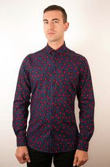 Unique gift for him: The Ladybug Long Sleeved Shirt. Handmade in the UK, shipped to you free in the USA or Canada. Ladybugs - what's not to love? Unique Gifts For Him, Mens Attire, Dapper Men, Vintage Inspired Dresses, Well Dressed, Long Sleeve Shirts, Shirt Dress, Ladybugs, Mens Tops