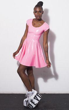 Bubblicious Skater Dress - DEVOWEVO