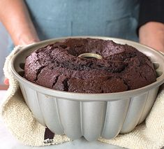 How to make Chocolate Fudge Bundt Cake via @kingarthurflour