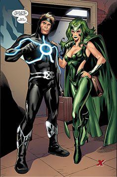X-men - Polaris (Classic Green Costume)