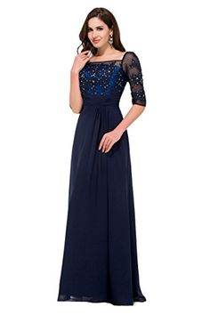 Women's Long Evening Party Dresses with Beadings Sequins Navy Blue Size 12 Belle Long Prom Dress http://www.amazon.com/dp/B00ZU2Z95O/ref=cm_sw_r_pi_dp_j1IOwb14C5NW5