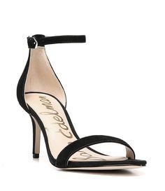 15f0a52d57072 Black Patti Ankle Strap Suede Dress Sandals Shoes