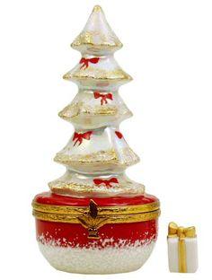 Artoria White Christmas Tree Limoges Box.