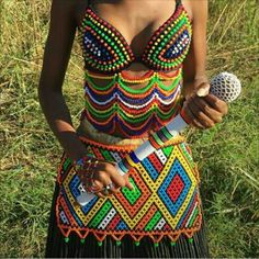 African Print Skirt, African Print Dresses, African Fashion Dresses, African Dress, Zulu Traditional Attire, African Traditional Wear, Traditional Outfits, Traditional Wedding, Xhosa Attire