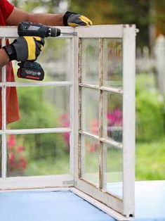 Turn Old Windows Into a Gorgeous Garden Greenhouse Old Window Greenhouse, Diy Mini Greenhouse, Miniature Greenhouse, Backyard Greenhouse, Greenhouse Plans, Greenhouse Wedding, Old Windows, Arched Windows, Glass House