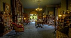 Mark Twain's Library.    One of the best and most beatiful author libraries I've seen.