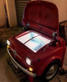 Fiat 500 refrigerator fridge furniture