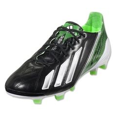 f540337ae adidas F50 adizero TRX FG Leather miCoach compatible (Black Running White Green  Zest