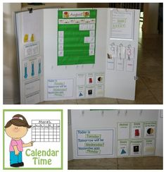 Free Calendar Board Printables for Preschool  Kindergarden