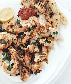 Mixed Seafood Grill with Paprika-Lemon Dressing