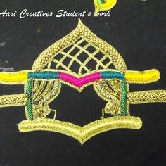 No photo description available. Embroidery Works, South Indian Bride, Stitches, Creativity, Student, Instagram, Dots, Sewing Stitches, Embroidery Stitches