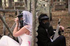 Paintball style wedding! #wedding
