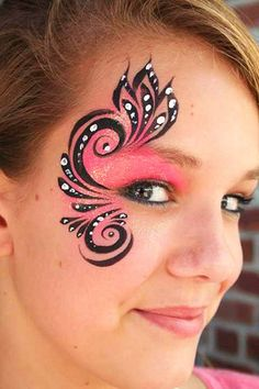 Image detail for -Cute Girl Face Painting Maquillage Halloween, Halloween Makeup, Halloween Face, Girl Face Painting, Painting For Kids, Face Paintings, Face Painting Tips, Face Painting Tutorials, Cheek Art