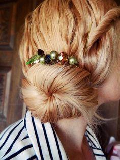 diy beaded hair comb hair accessories