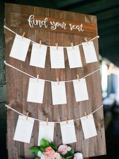 The prettiest way to find your seat! #Cedarwoodweddings