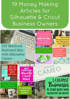 22 Posts to Help You Make Money with Your Silhouette Cameo or Cricut Explore - by cuttingforbusiness.com