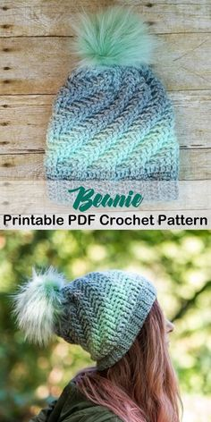 Make a cozy beanie. beanie crochet patterns - winter hat crochet patterns - crochet pattern pdf - amorecraftylife.com #crochet #crochetpattern
