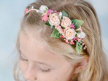 Haarband mit Blumen für Blumenmädchen + Bräute