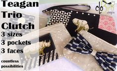 SALE The Teagan Trio Clutch PDF Pattern