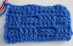 Basket Weave Crochet Stitch Tutorial   AllFreeCrochetAfghanPatterns.com