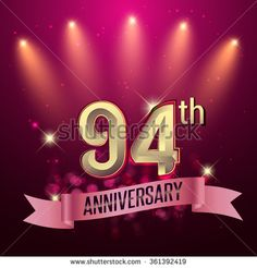 94th Anniversary, Party poster, banner or invitation - background glowing element. Vector Illustration. - stock vector  #advertisement #age #anniversary #background #badge #banner #birthday #business #card #geomatric #celebrating #celebration #ad #ceremony #certificate #collection #colorful #congratulation #corporate #design #element #event #flat #geometric #happy #icon #illustration #invitation #jubilee #label #marriage #modern #number #party #pattern #ribbon #sign #success #symbol…
