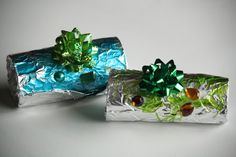 foil wrapped ornaments - happy hooligans