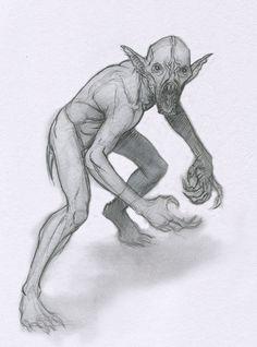vampire bat Gollum by Mavros-Thanatos on DeviantArt