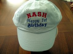 Personalized Baseball caps Infant to Adults by EmbroiderybySharon $14.95