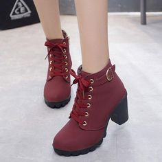 2020 hot new women shoes PU sequined high heels zapatos mujer fashion sexy high heels ladies shoes women pumps side zipper pumps - Wine Red 6 Source by CreativeDreamscape boots Lace Up Ankle Boots, Heeled Boots, Shoe Boots, Women's Boots, Boot Heels, Boots With Heels, High Boots, Red Heel Boots, Ankle Shoes