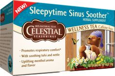 I want to try this . . .  Sleepytime Sinus Soother Wellness Tea