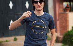 T-Shirt Cycliste En Cotton Petrolio | Café du Cycliste