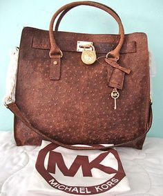 Micheal kors mocha ostrich bag. I would most definitely take this bad.It is gorgeous!